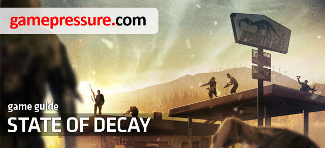 The following guide is a collection of information about the game State of Decay - State of Decay - Game Guide and Walkthrough