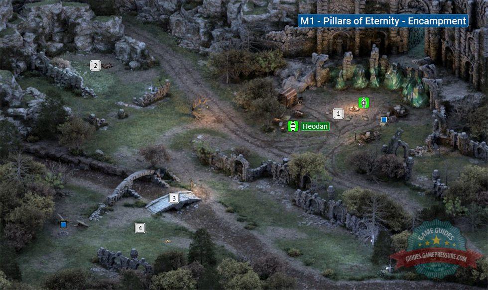 Pillars Of Eternity World Map Complete.Map Of Encampment M1 Pillars Of Eternity Game Guide Walkthrough