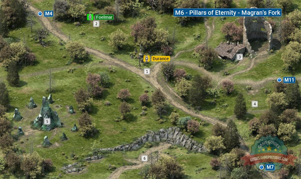 Map of Magran's Fork M6 | Pillars of Eternity - Pillars of