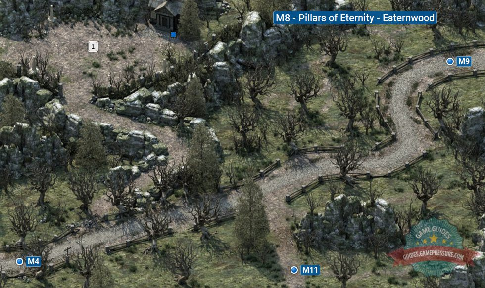 Mapa Pillars Of Eternity.Map Of Esternwood M8 Pillars Of Eternity Pillars Of