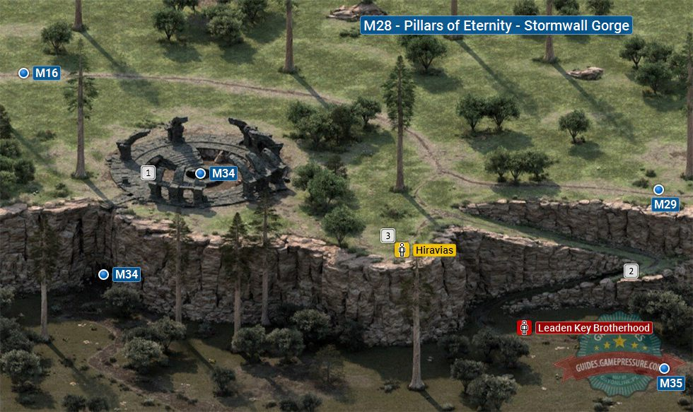 Mapa Pillars Of Eternity.Map Of Stormwall Gorge M28 Pillars Of Eternity Pillars