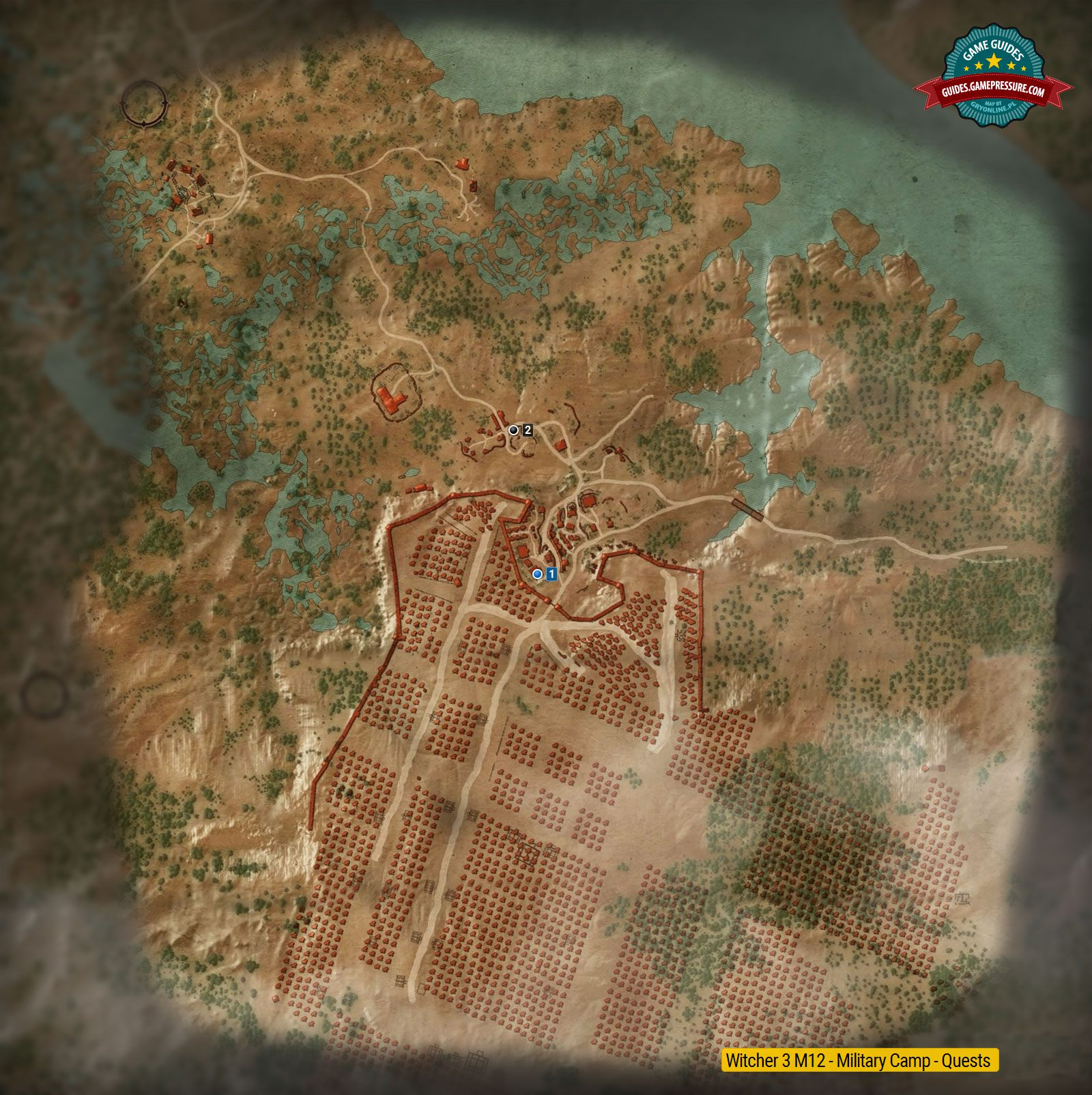 Witcher 3 M12 - Military Camp - Quests