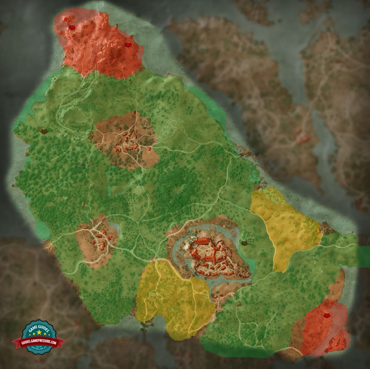Map of enemies in crows perch the witcher 3 wild hunt game witcher 3 m3 crows perch enemies gumiabroncs Images