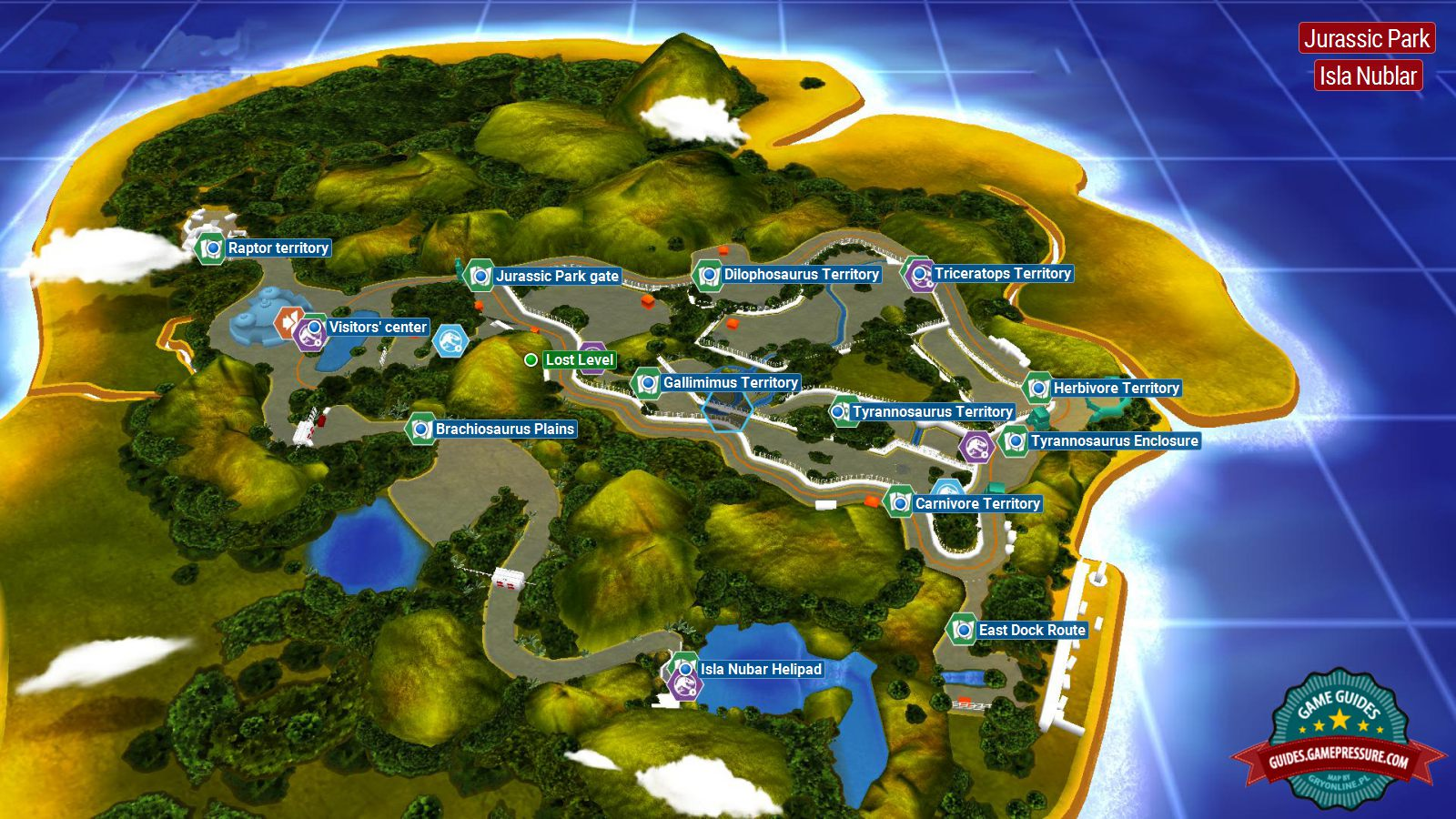 Introduction and map jurassic park secrets in free roam lego lego jurassic world jurassic park gumiabroncs Images