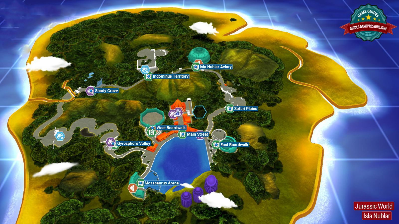 Introduction and map jurassic world secrets in free roam lego jurassic world jurassic world gumiabroncs Gallery