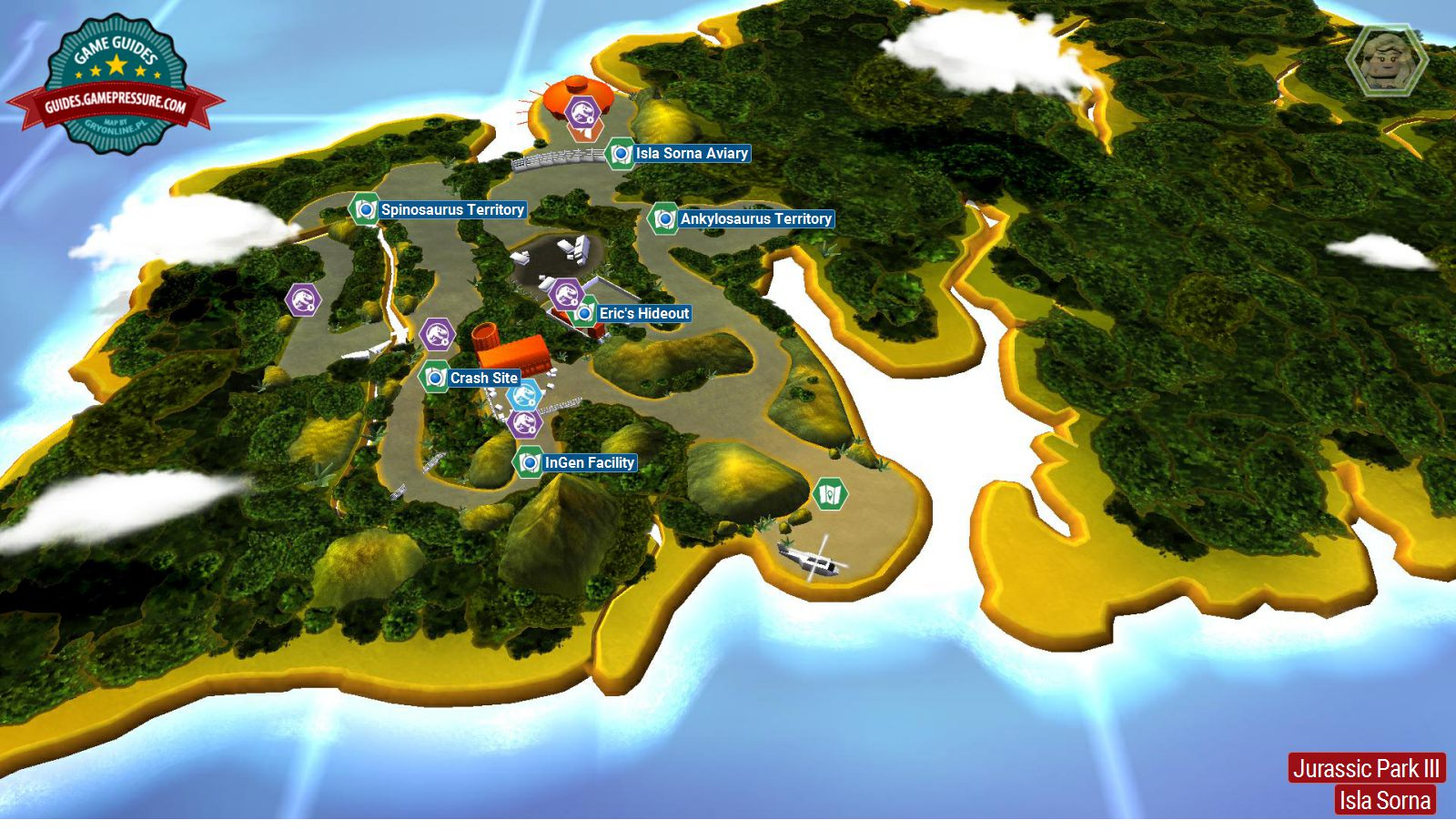 Introduction and map jurassic park iii secrets in free roam lego jurassic world jurassic park iii gumiabroncs Gallery