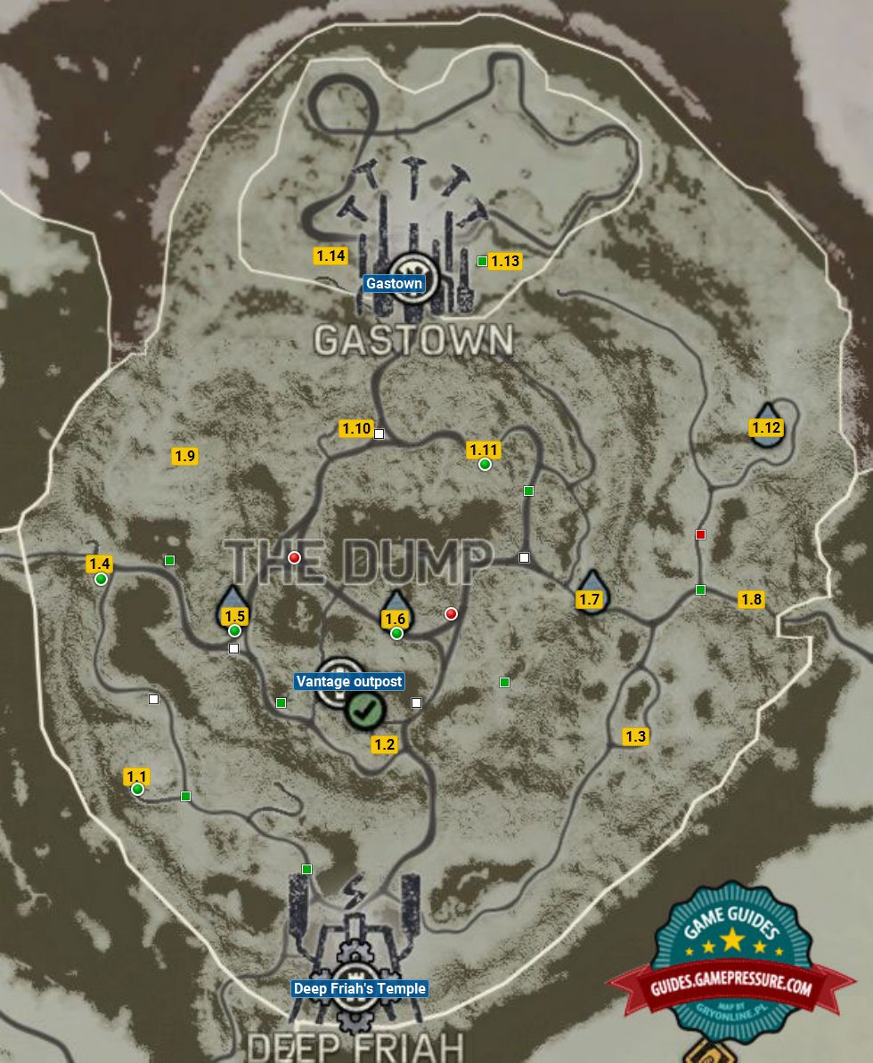 Dump | Deep Friah's Territory - maps - Mad Max Game Guide ... Mad Max Map on alien map, the dark knight rises map, a bridge too far map, h1z1 map, pillars of eternity map, smokey and the bandit map, superhero movie map, axiom verge map, bloodborne map, the hunger games map, mortal kombat x map, hohokum map, the elder scrolls online map, the lego movie map, max payne 3 map, state of decay map, evolve map, rage map, batman map,