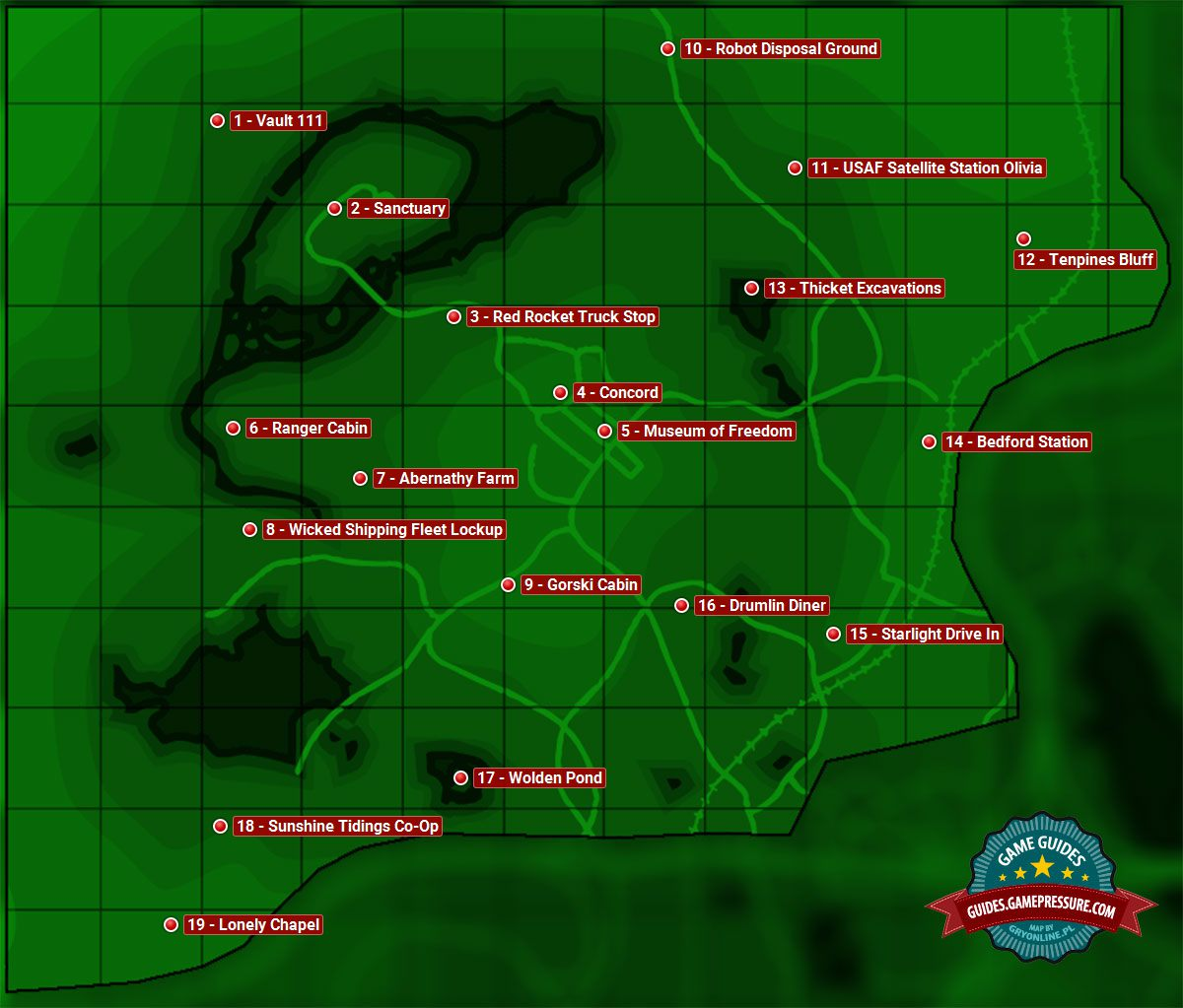 Map Of Sanctuary Sector 1 Fallout 4 Game Guide Walkthrough