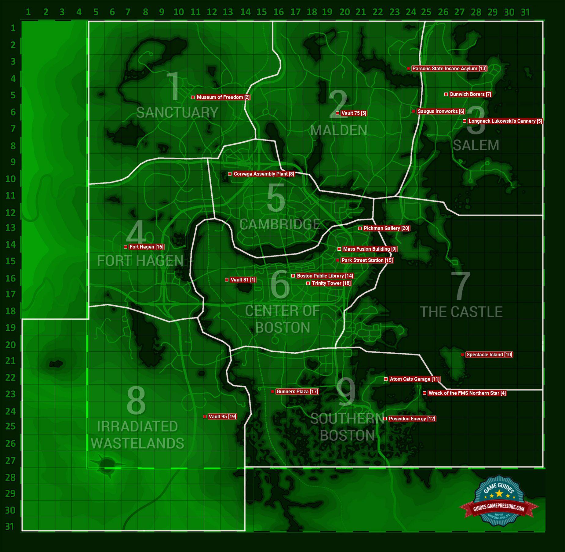 образом, секреты фоллаут 4 винтокрылы на карте ЗАПИСИ Проводки