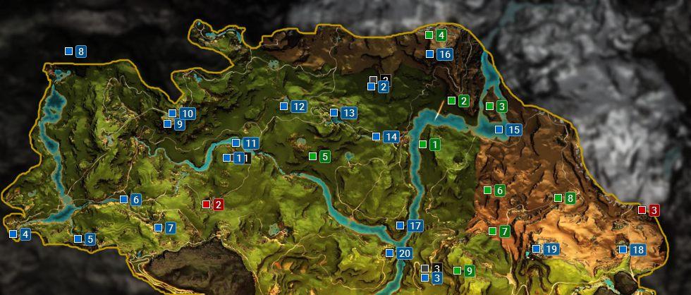 Map Central Oros Far Cry Primal Game Guide Walkthrough