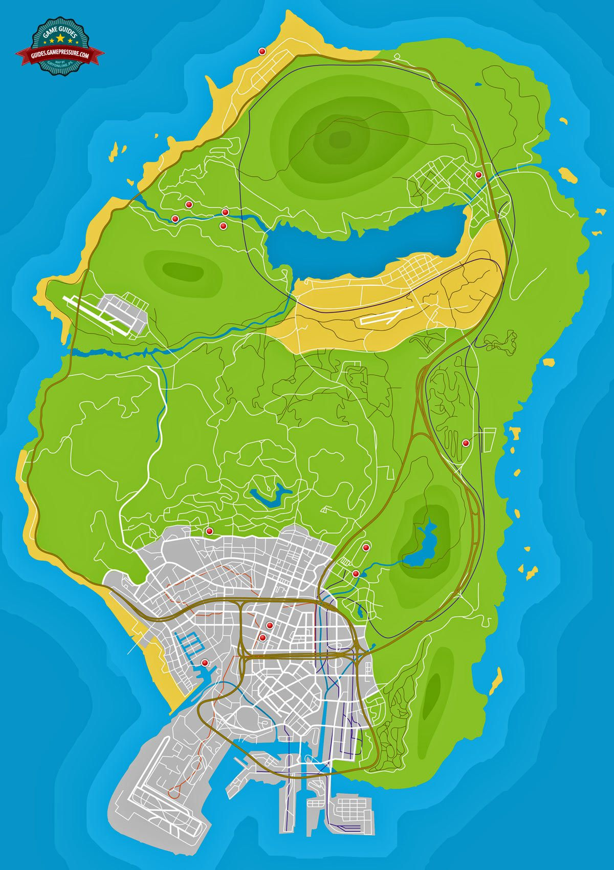 GTA V Map - Parachute Jumps