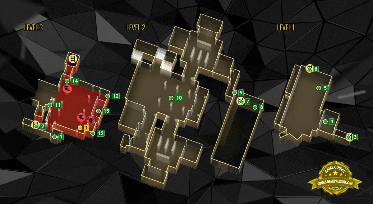 Map Of The Garage In The Northern Prague M14 Deus Ex