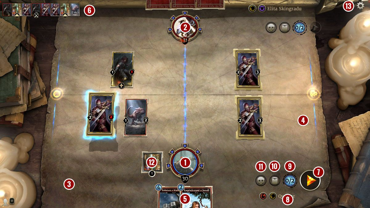 The Elder Scrolls: Legends - Interface