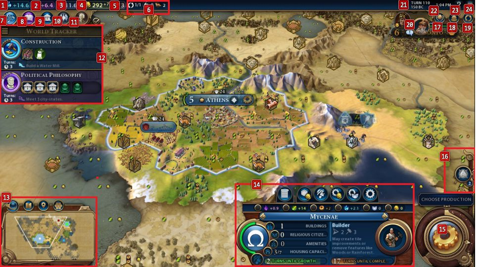 Interface - Sid Meier's Civilization VI Game Guide | gamepressure.com