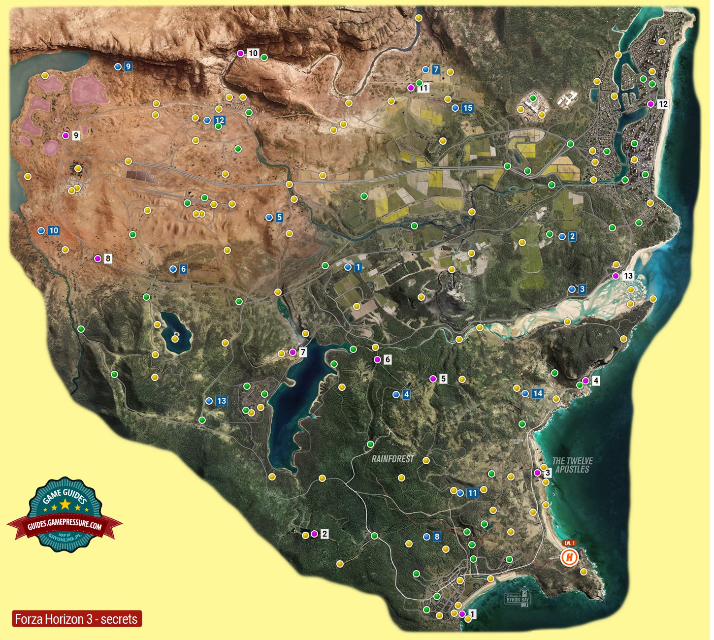 Carte Au Tresor Forza Horizon 3.Map Of Collectibles In Forza Horizon 3 Forza Horizon 3