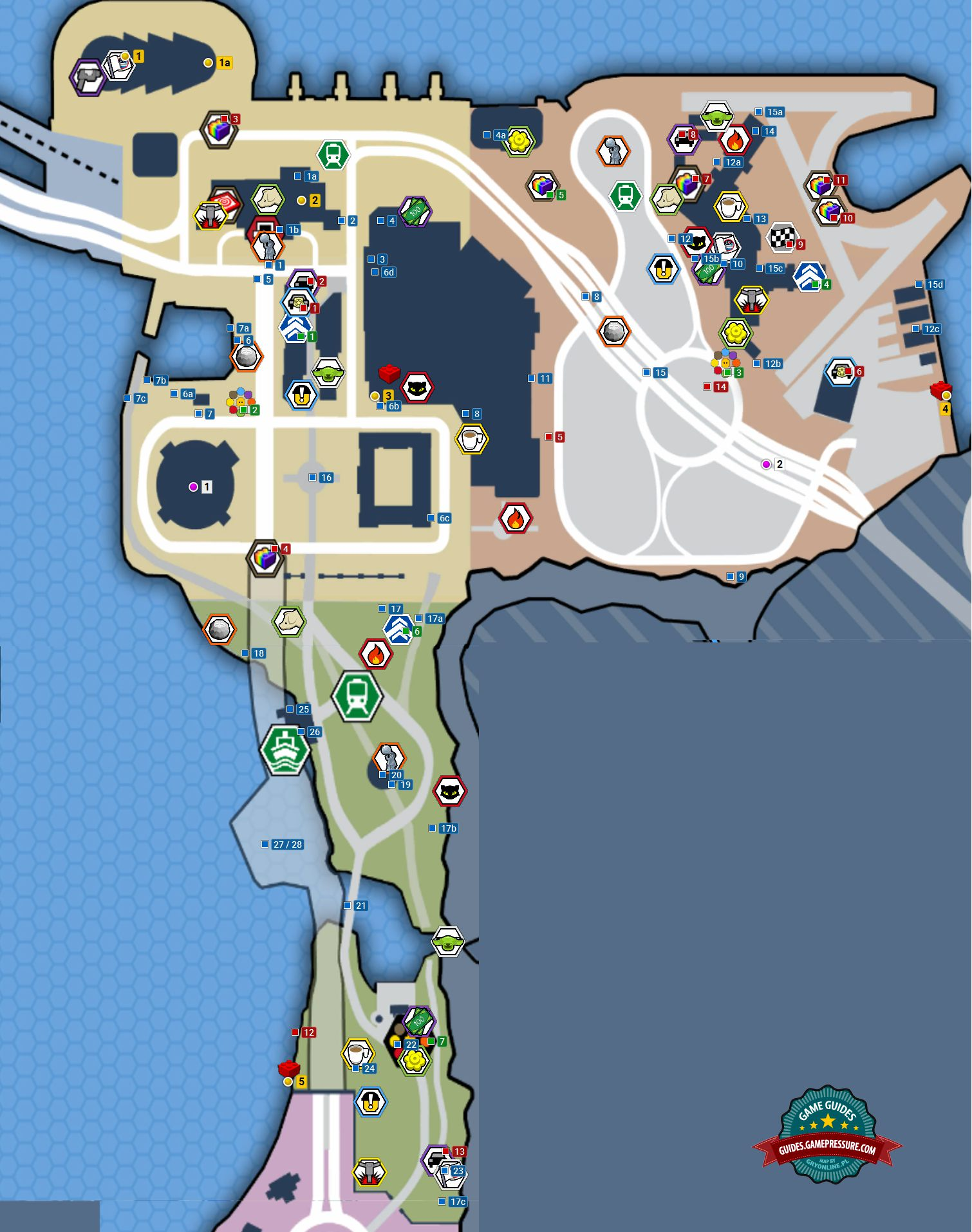 Northeast Area Maps And Secrets Lego City Undercover Game Guide