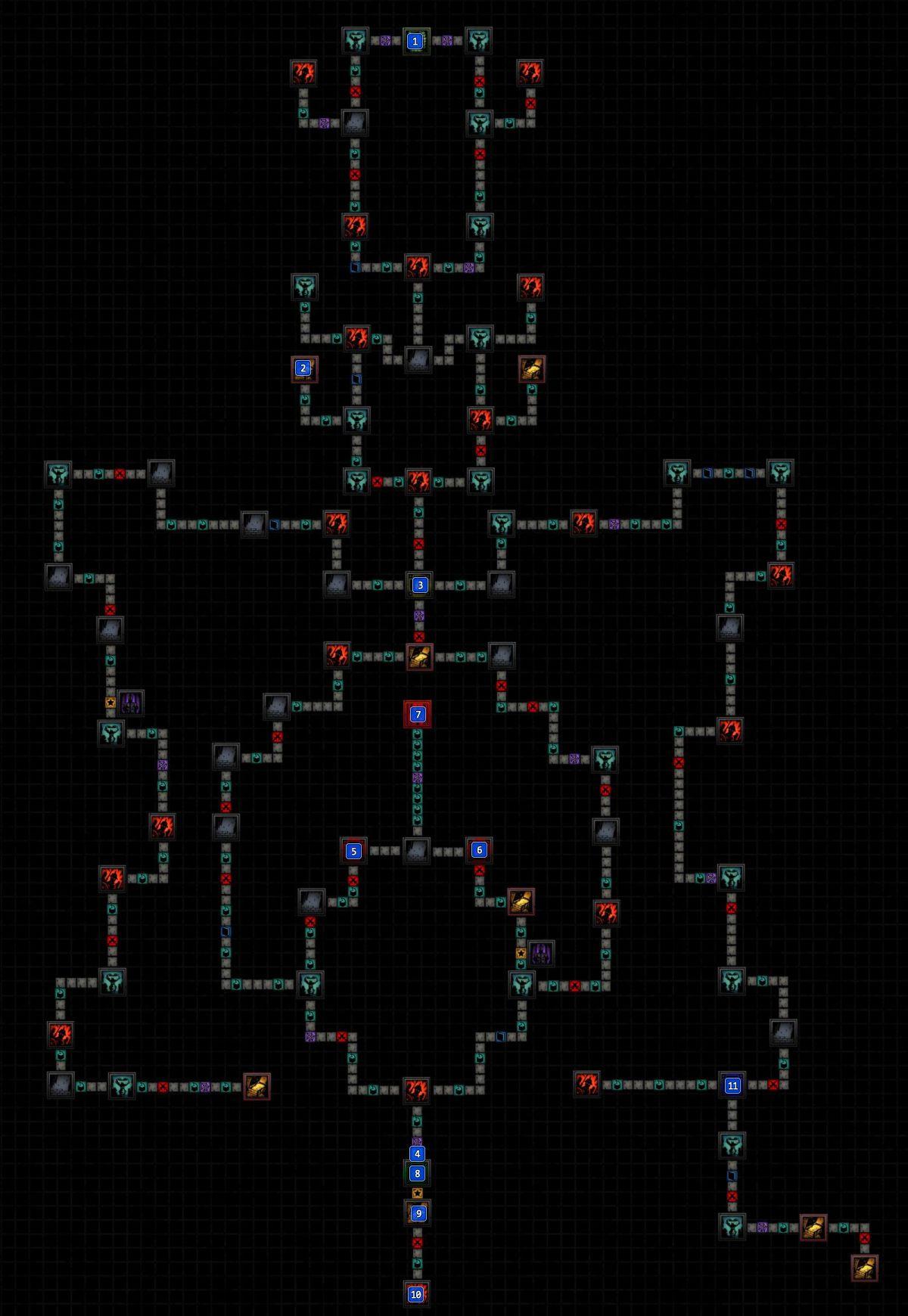 mission   a bewitching predator  courtyard maps  darkest  - darkest dungeon the crimson court  mission  map (a bewitching predator)