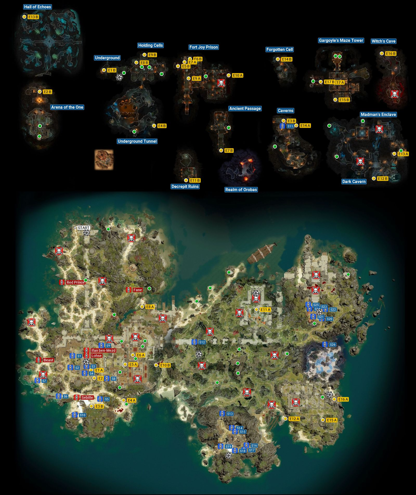 Fort Joy Map Secrets And Treasure Map And Secrets Divinity