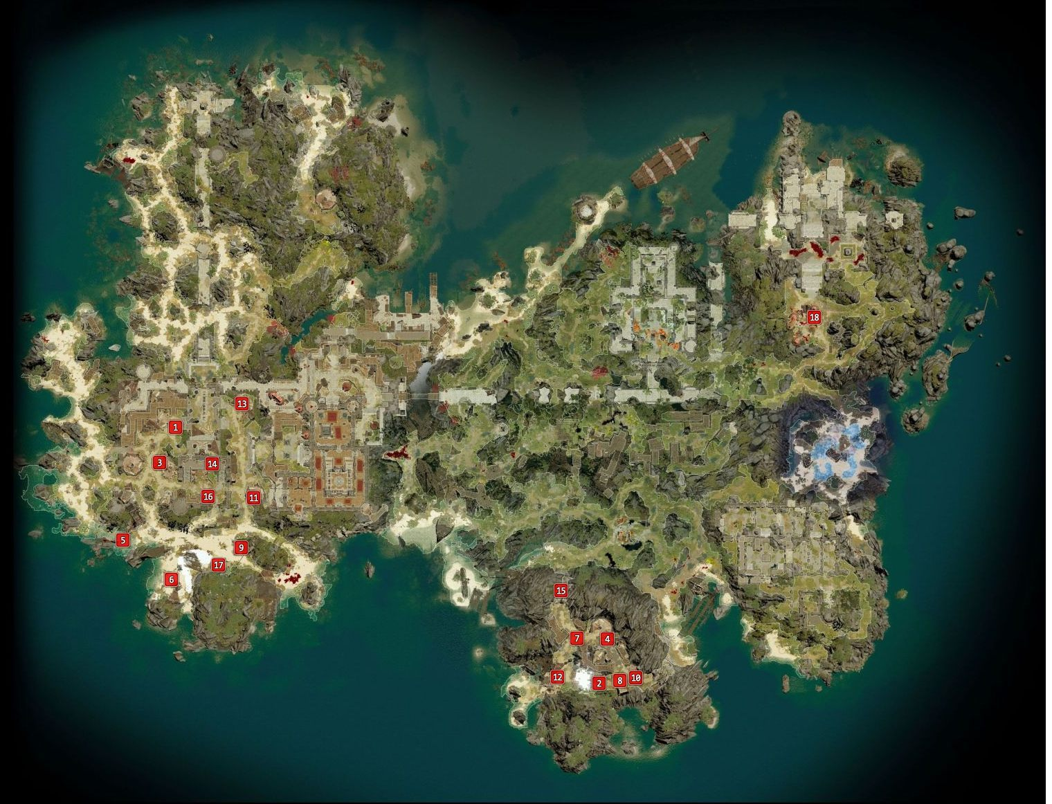 All merchant and skillbooks locations in Fort Joy - map for Divinity: Original Sin 2
