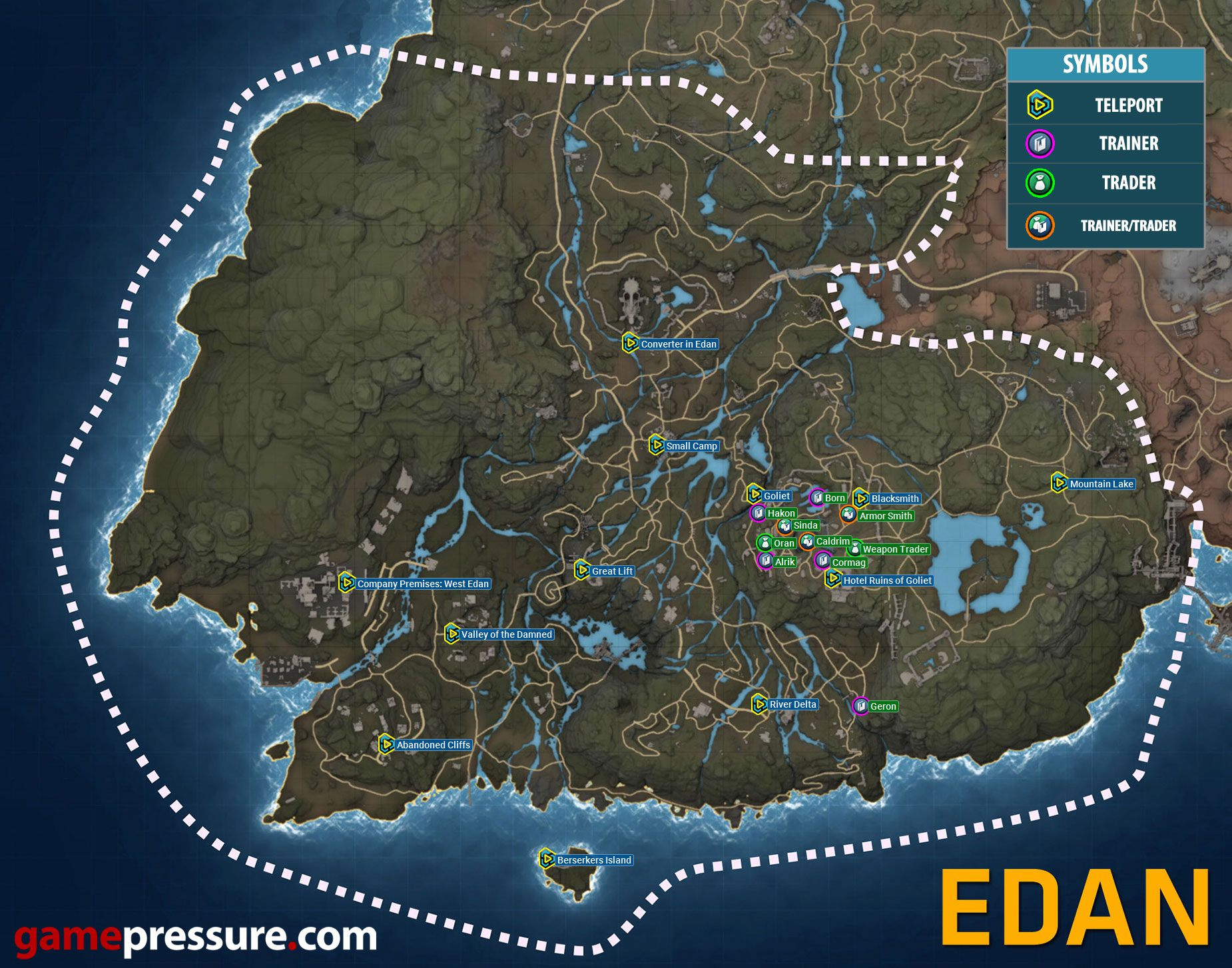 Elex - Atlas - Map of Edan