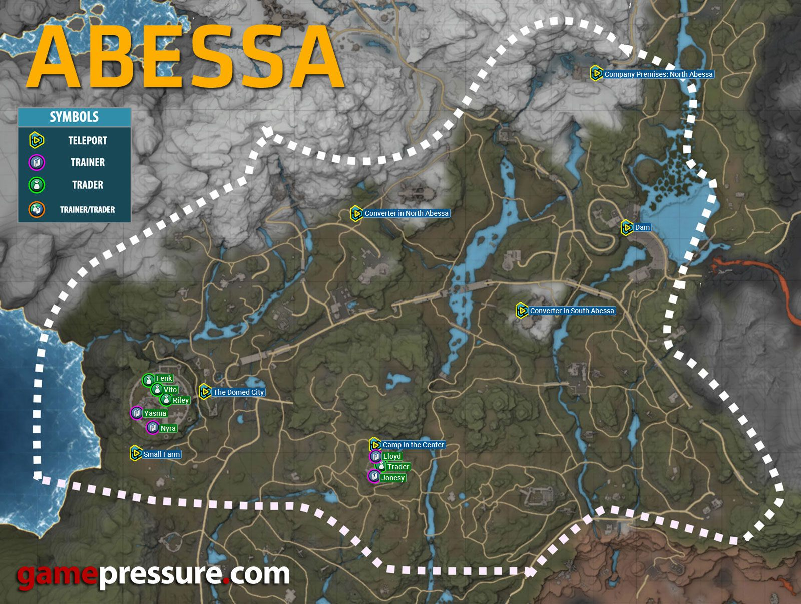 elex karte Map of Abessa in Elex [Domed City]   Teleports, Traders and