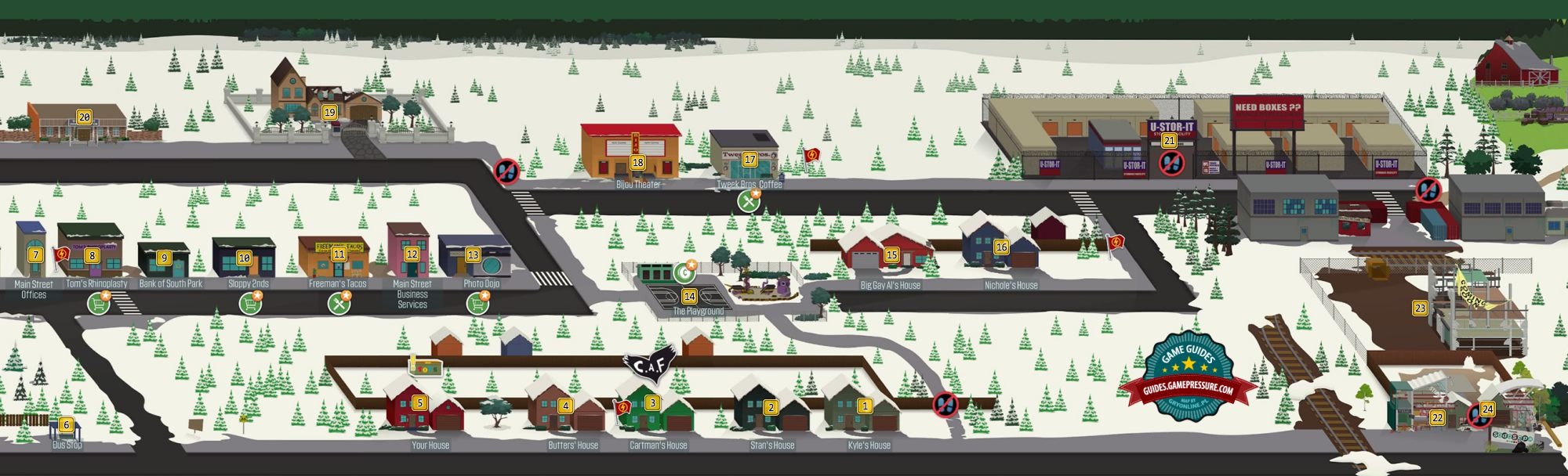 Map Of South Park Map of the Eastern South Park   South Park: The Fractured But