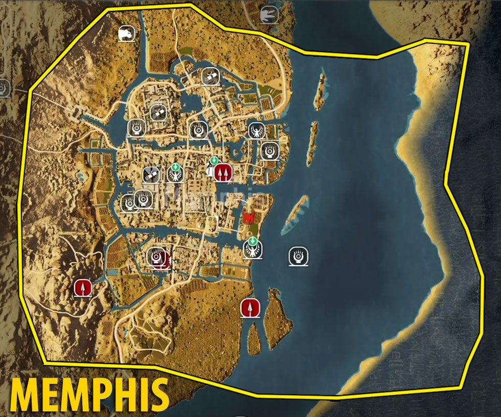 assassins creed origins map guide