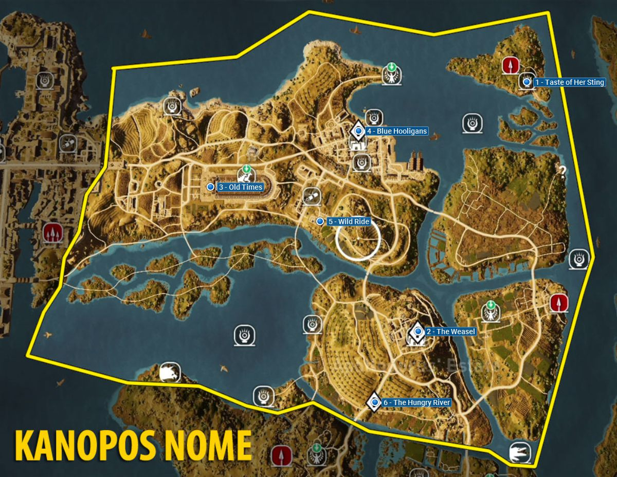 Kanopos Nome side quests and quest map | Walkthrough - in's ... on