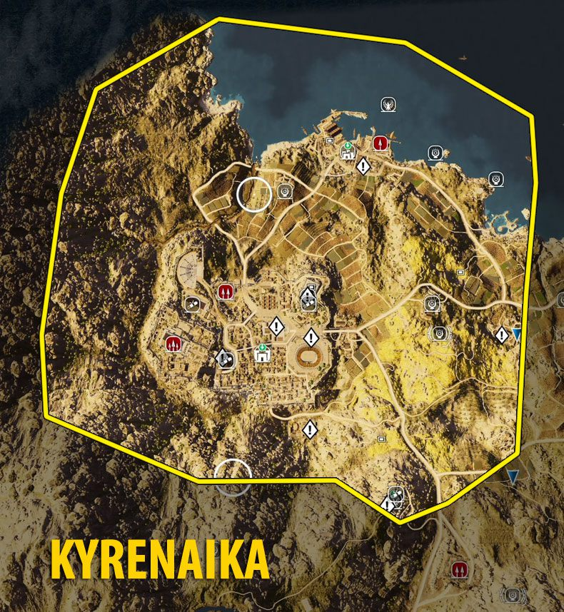 Map Of Kyrenaika Tombs Papyrus Puzzles And Secrets Assassin S Creed Origins Guide Gamepressure Com