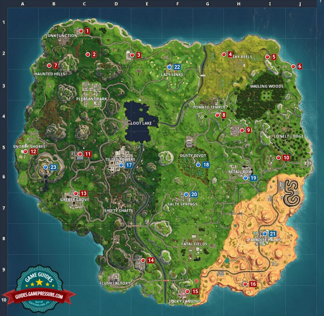 The Best Spots To Land How To Win Fortnite Battle Royale Game Guide Gamepressure Com