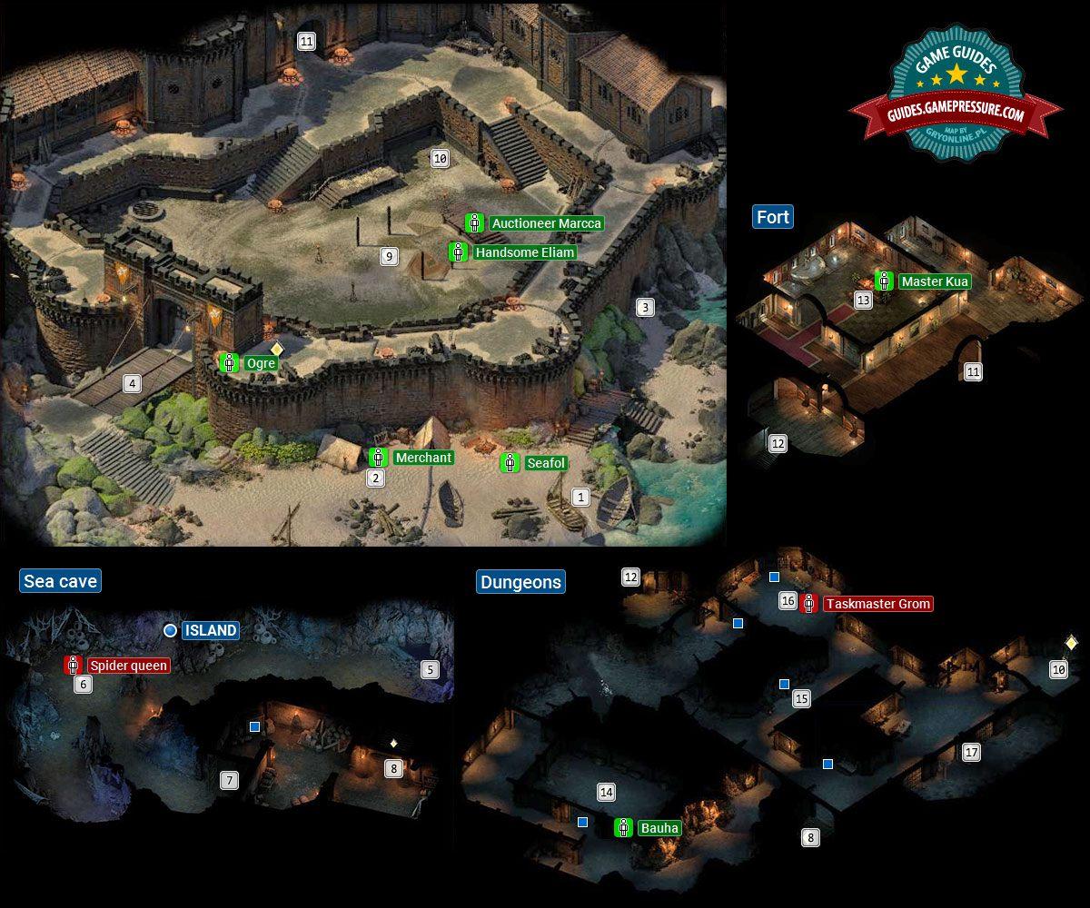 Crookspur Island Walkthrough and Map - Pillars Of Eternity 2