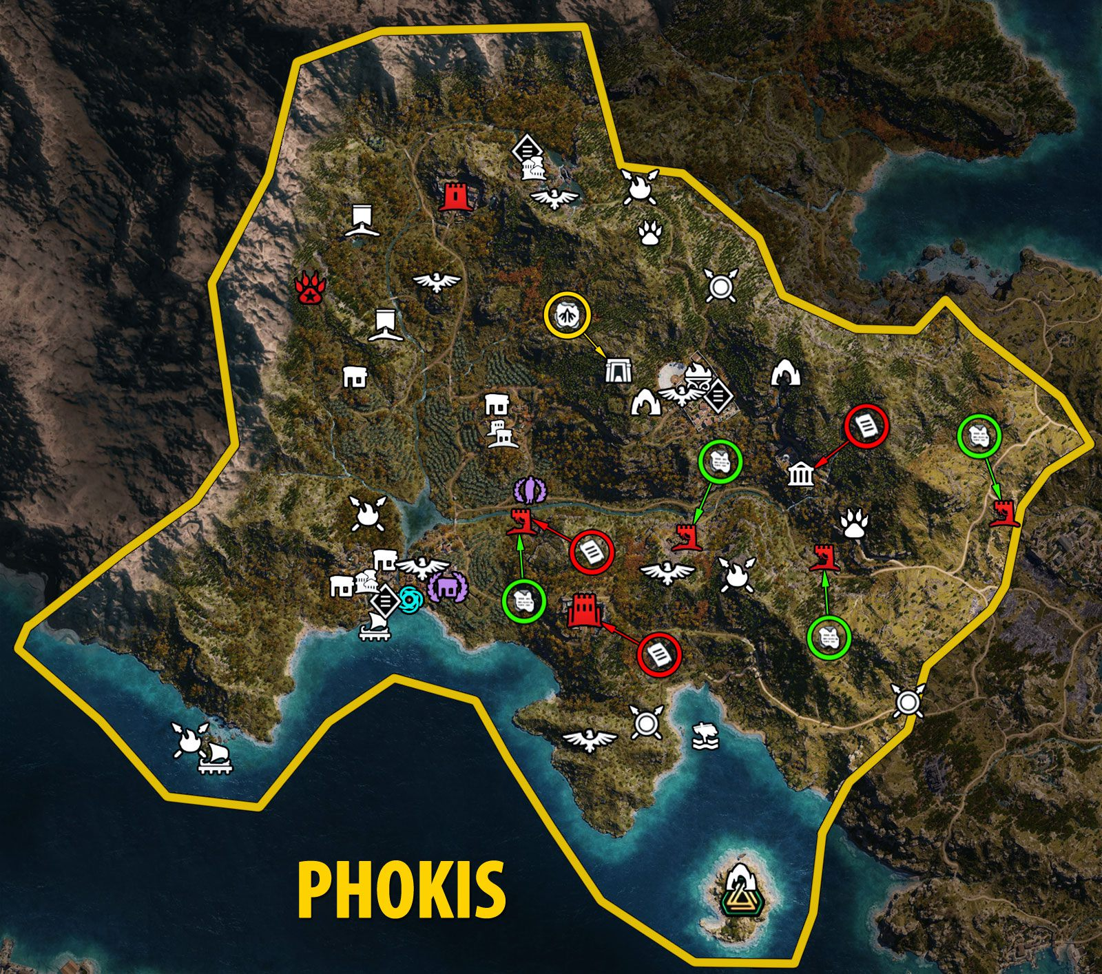 Phokis - World Map Assassin's Creed Odyssey