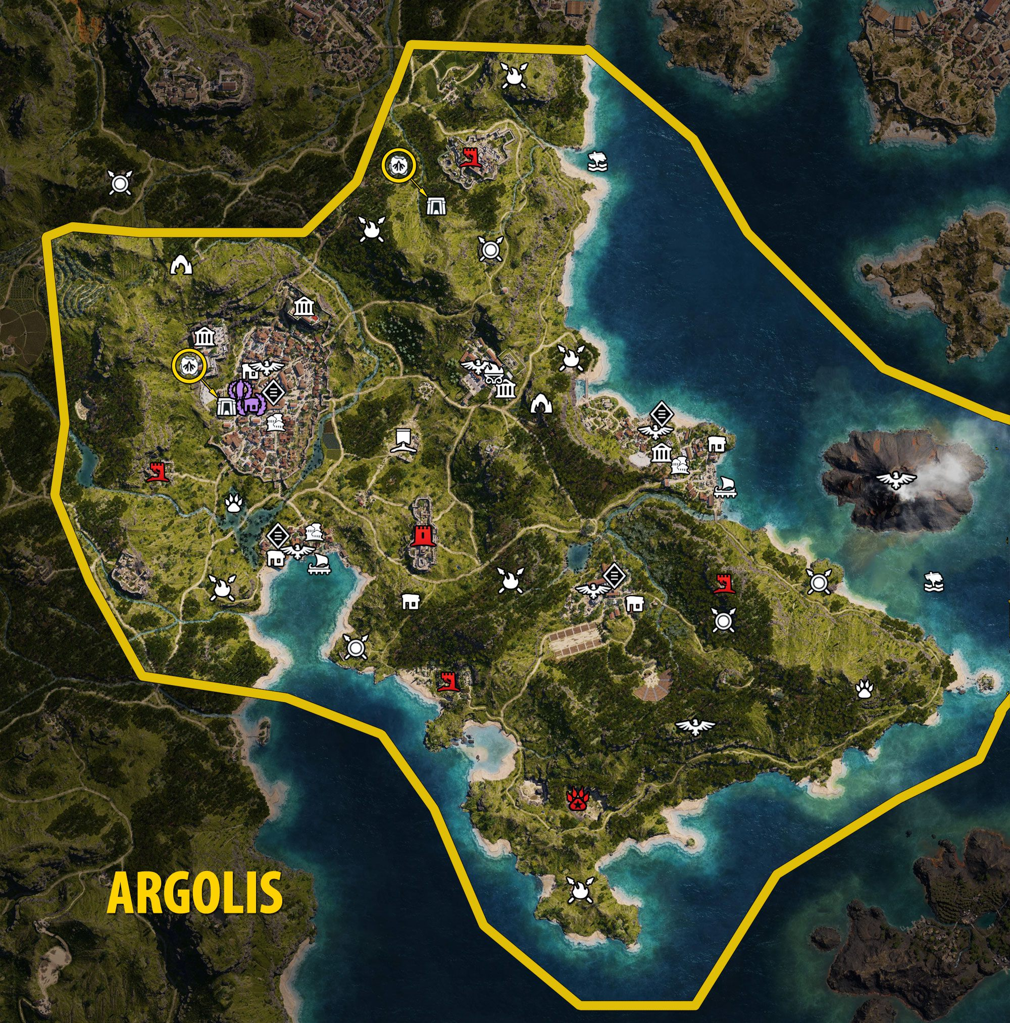 Argolis Map - Assassin's Creed Odyssey
