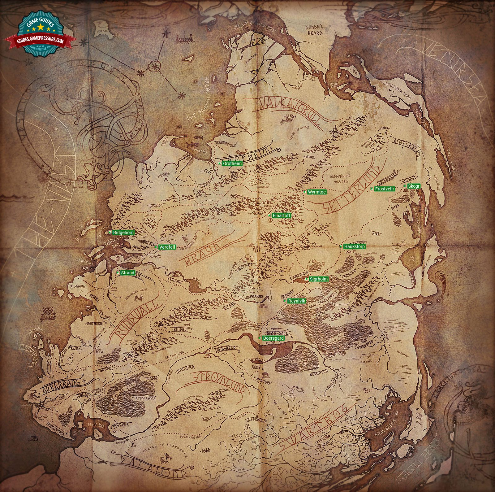 World Map Game Interface The Banner Saga Game Guide