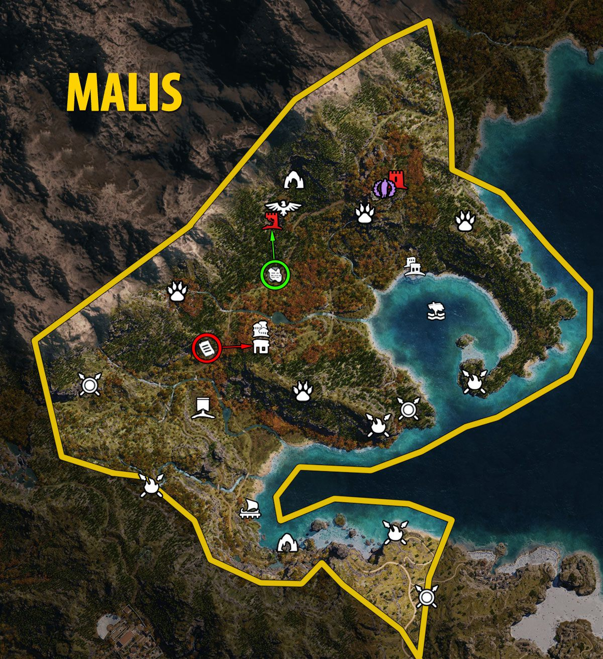 Malis Map - Assassin's Creed Odyssey