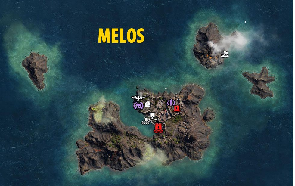 Melos Map - Assassin's Creed Odyssey