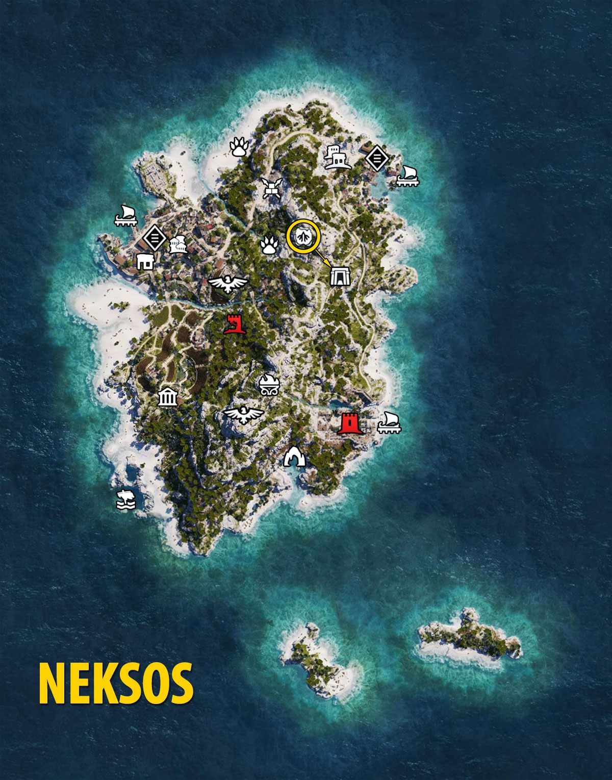 Naxos Map - Assassin's Creed Odyssey
