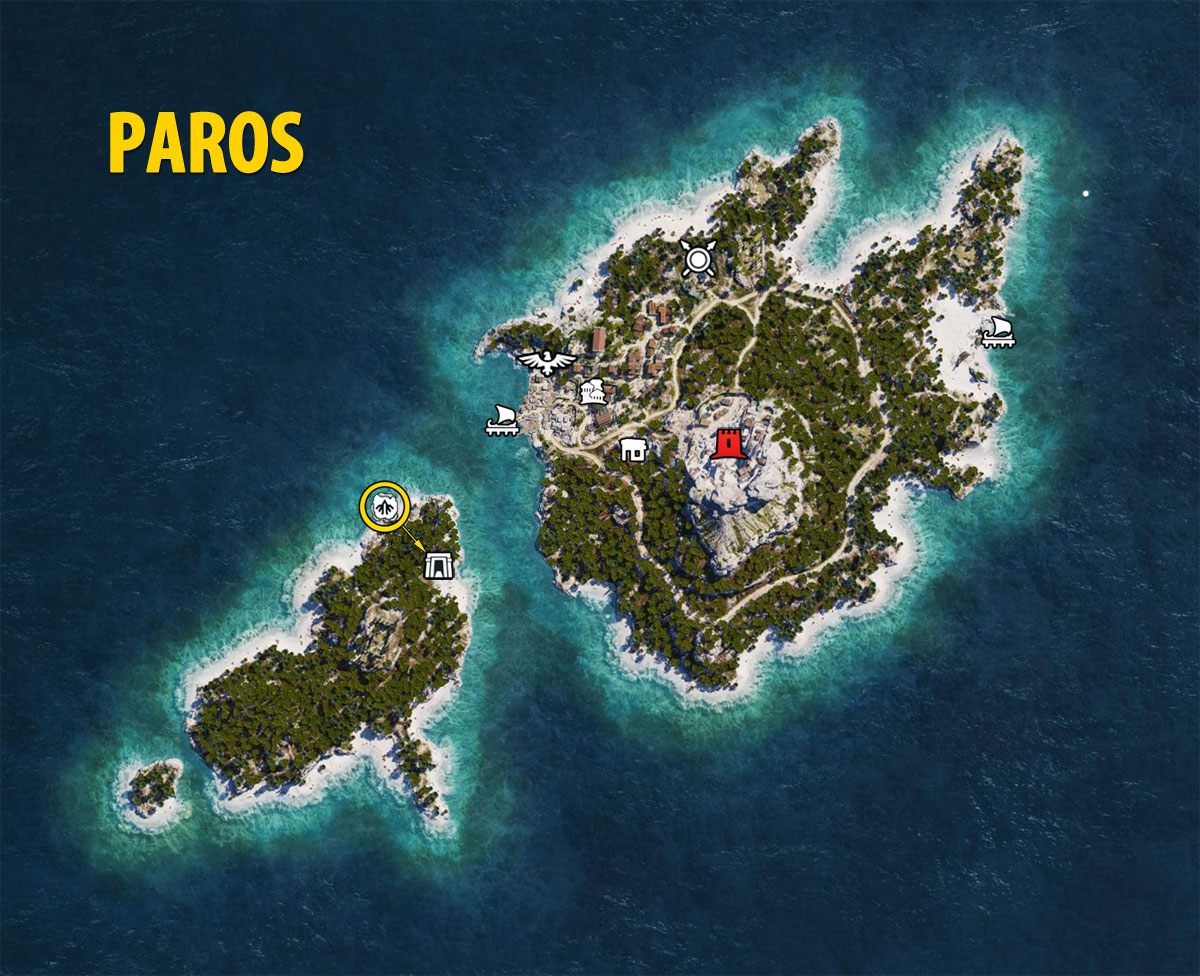 Paros Map - Assassin's Creed Odyssey
