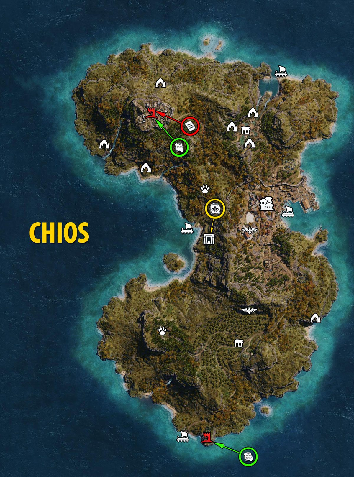 Ac Odyssey Chios Map Tombs Ostracons Documents Secrets