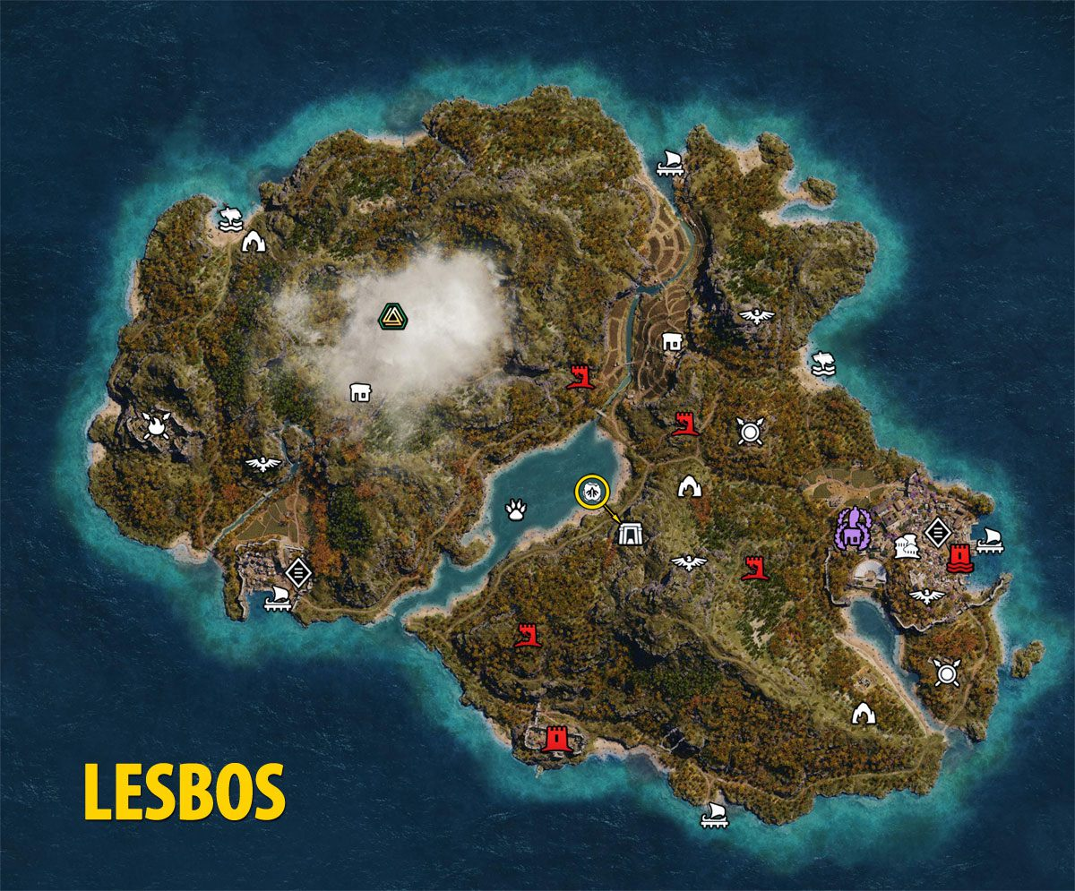 Lesbos Map - Assassin's Creed Odyssey