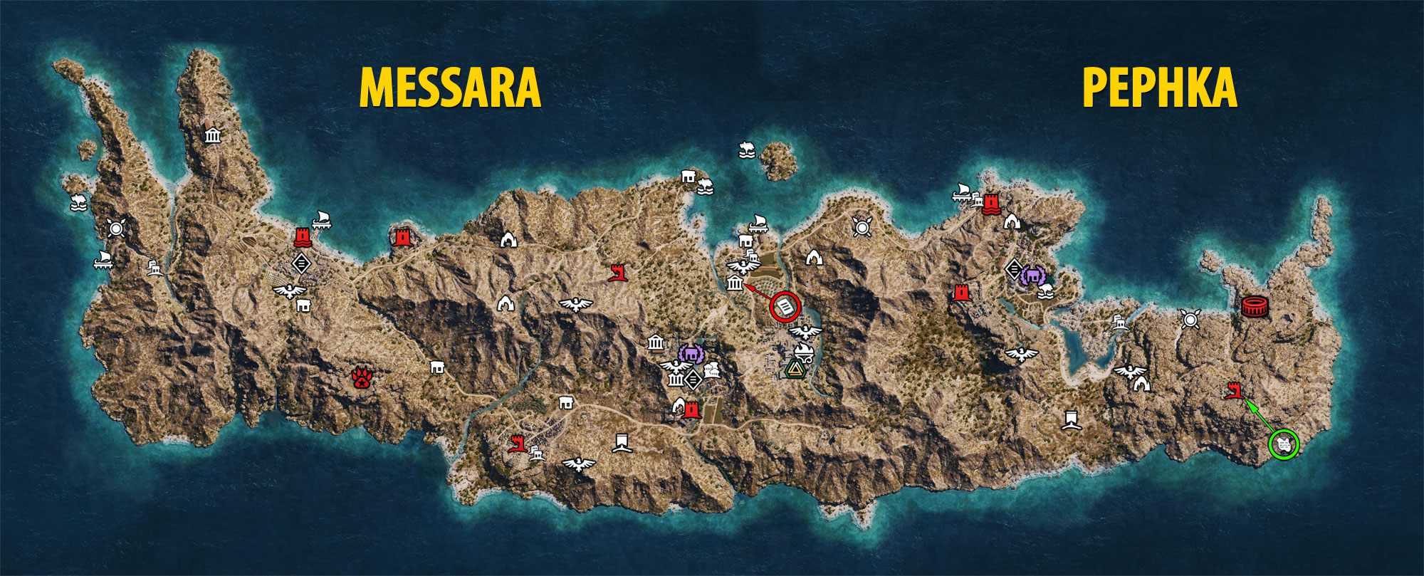 Messara and Pephka Maps - Assassin's Creed Odyssey