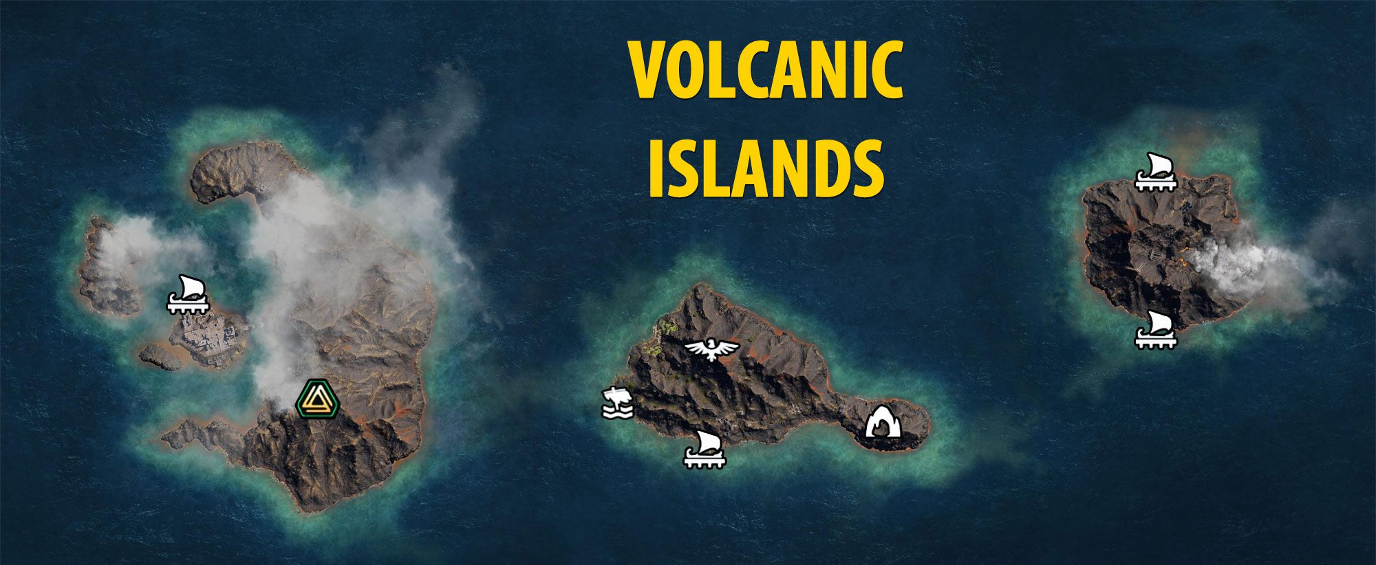 Volcanic Islands Map - Assassin's Creed Odyssey