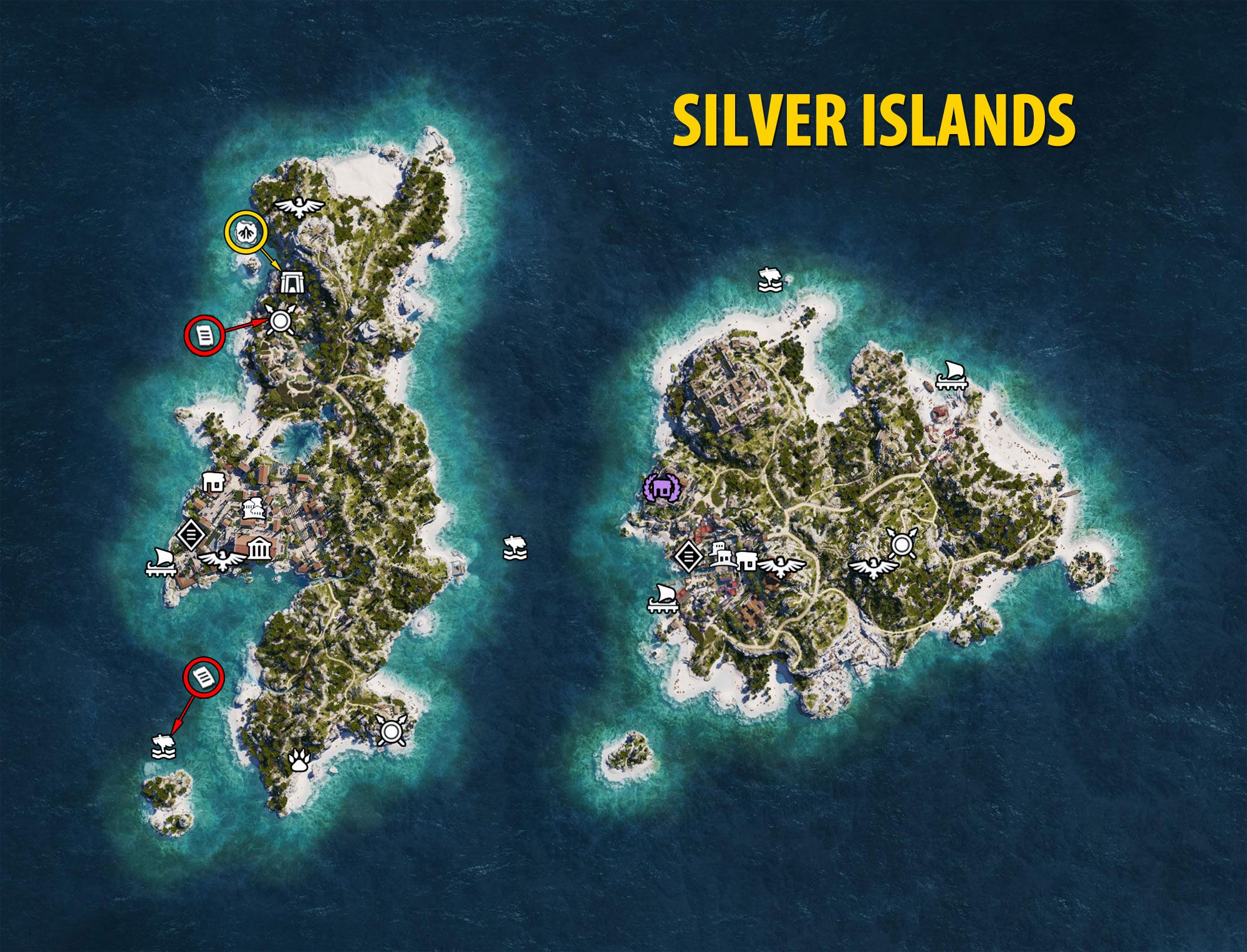 Silver Islands Map - Assassin's Creed Odyssey