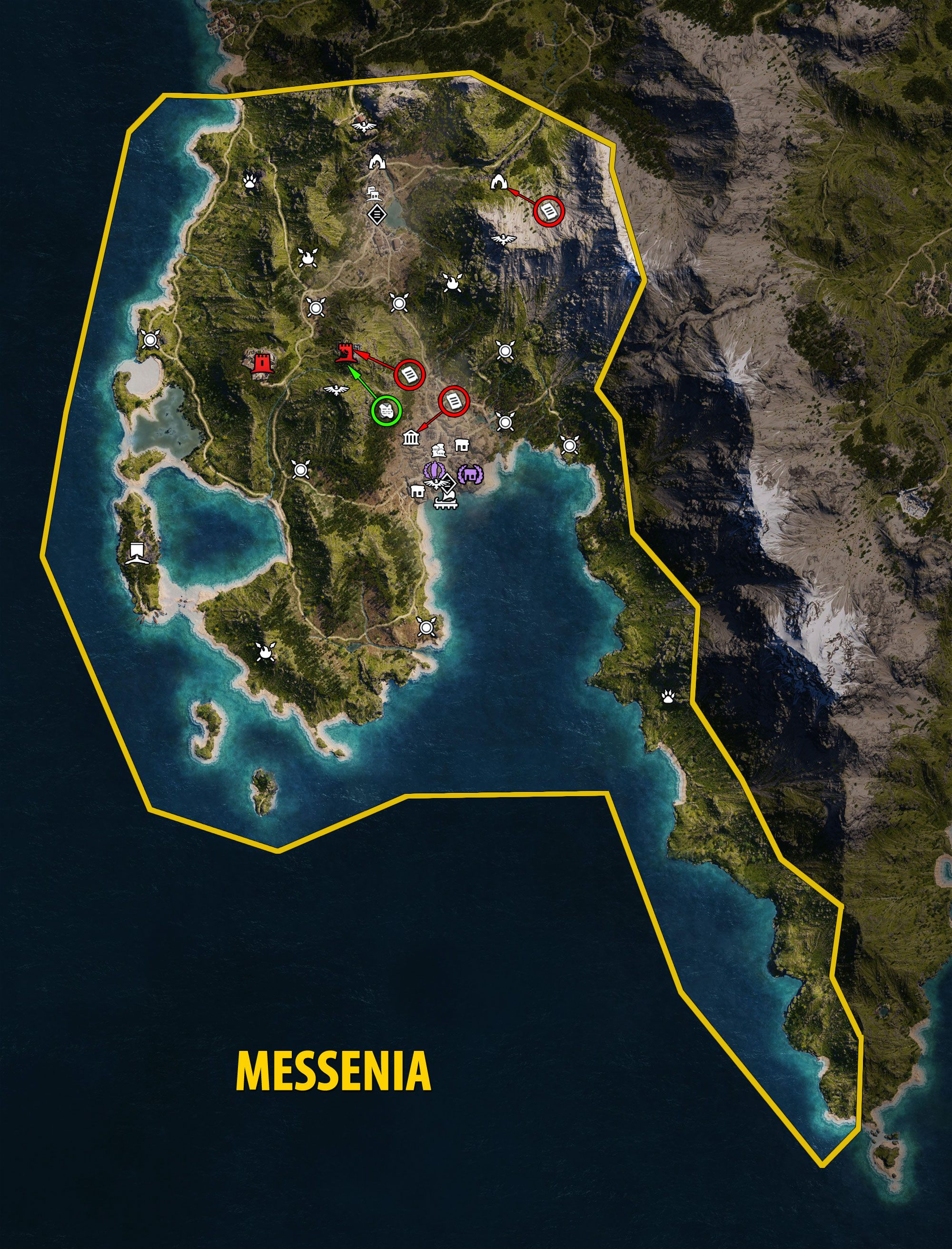 Messenia Map - Assassin's Creed Odyssey