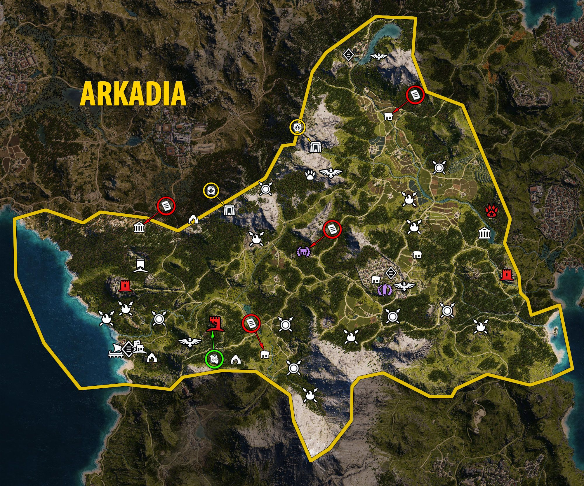 Arkadia's Map - Assassin's Creed Odyssey