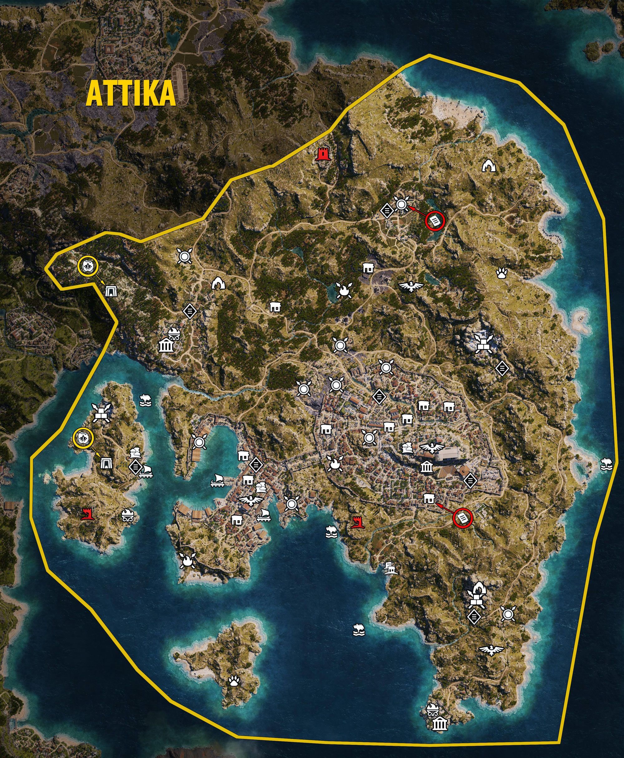 Attika Map - Assassin's Creed Odyssey