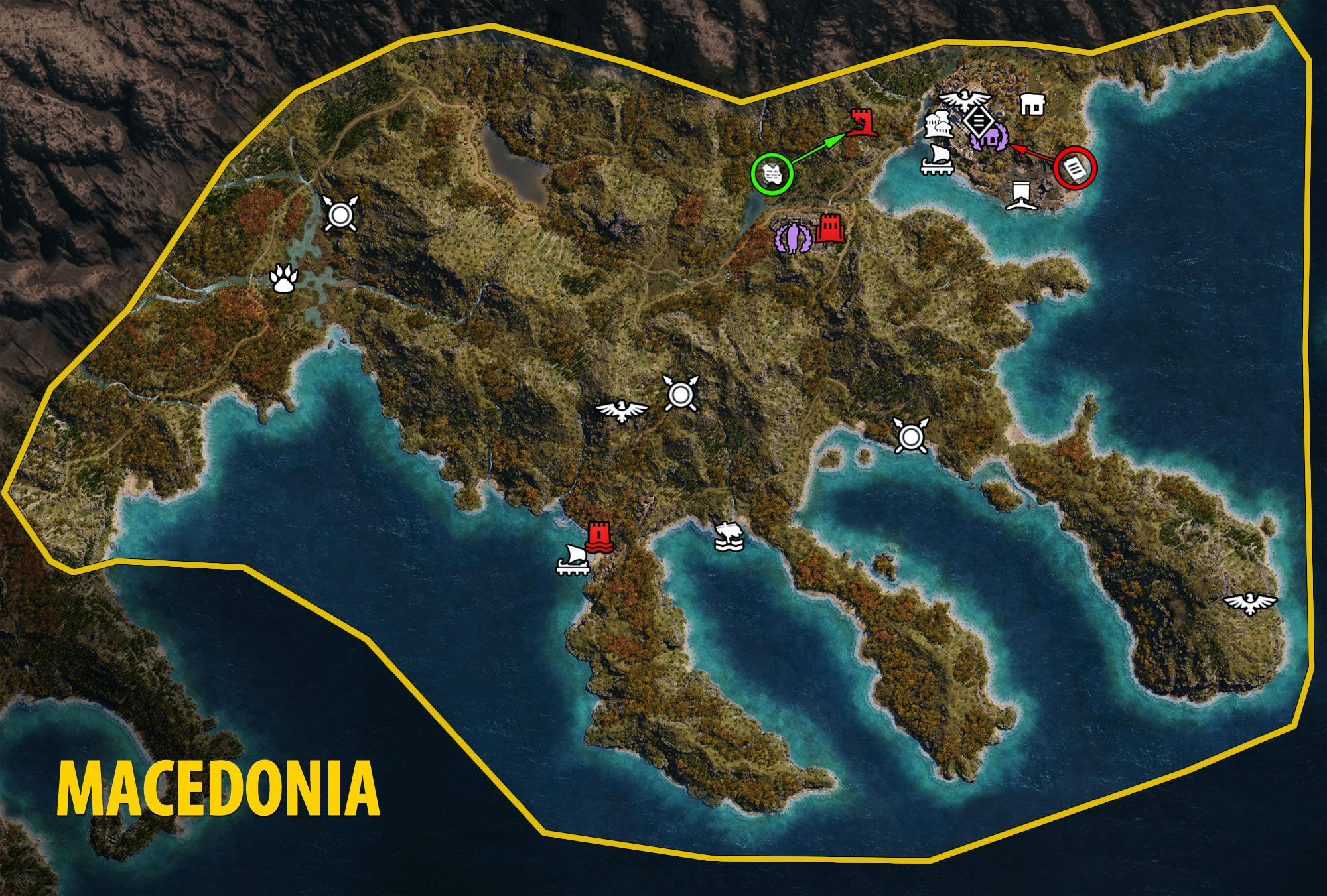 Macedonia - Assassin's Creed Odyssey Map