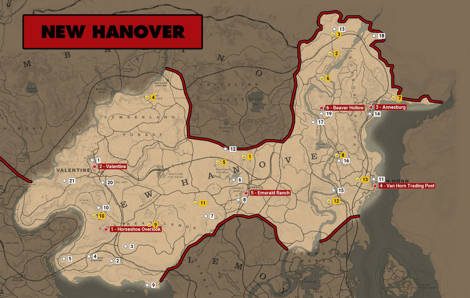 Red Dead 2 World Map.New Hanover Red Dead Redemption 2 World Atlas Map Red Dead
