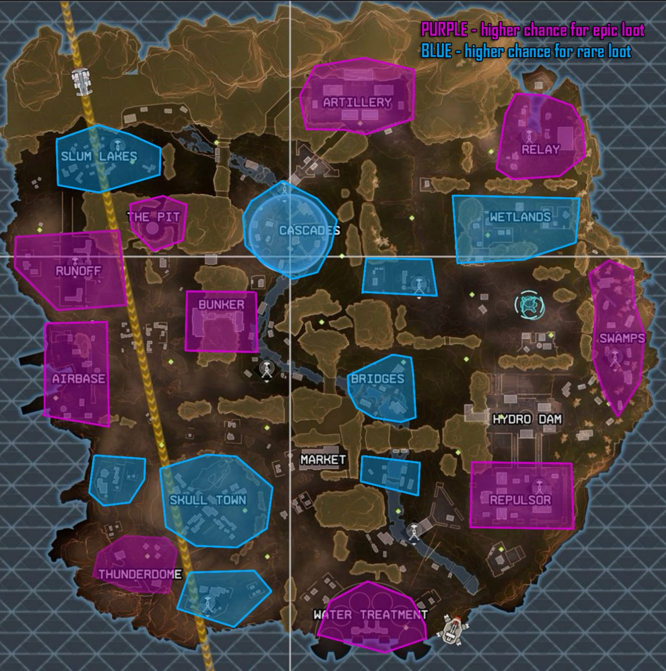 Apex Legends Map - best loot and landing locations