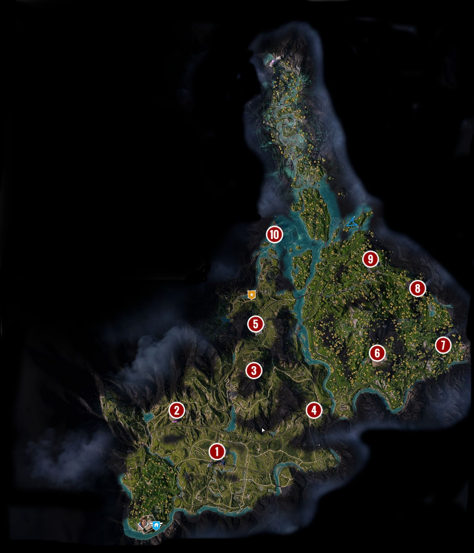 Outposts Locations Map In Far Cry New Dawn Far Cry New Dawn Guide Gamepressure Com